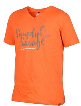 Savage gear Simply  Savage V-neck Tee Grey T-Shirt