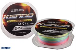 Kendo Dynema 8 Örgü 0,12mm 250Mt (Multıcolour)