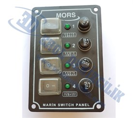 Mors 4lü Switch Sigorta Panel Dikey