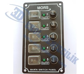 Mors 5li Switch Sigorta Panel Dikey